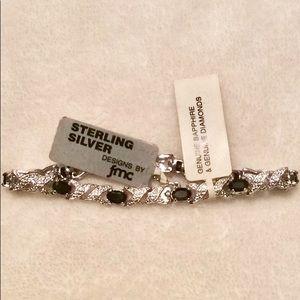 Jewelry - NWT Sterling Sapphire Bracelet